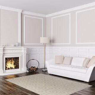 "Signature Home Hardin Cream Area Rug (7'10 x 10') - 7'10"" x 10'"