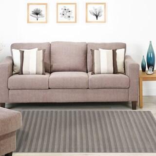 Signature Home Dillon Grey Polypropylene Area Rug (5'3 x 7'4)