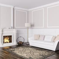Signature Home Carson Grey Polypropylene Area Rug (7'10 x 10') - 7'10 x 10'