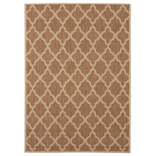 Signature Home Caerleon Brown Polypropylene Indoor/Outdoor Area Rug (7'10 x 10')