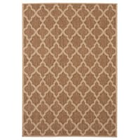 Signature Home Caerleon Brown Polypropylene Indoor/Outdoor Area Rug - 7'10 x 10'