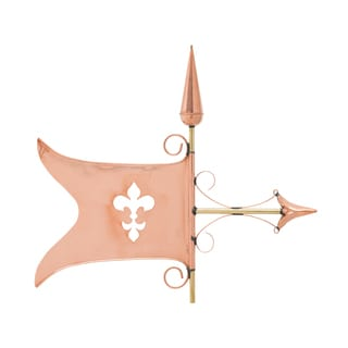 White Hall Polished Copper Banner Weathervane