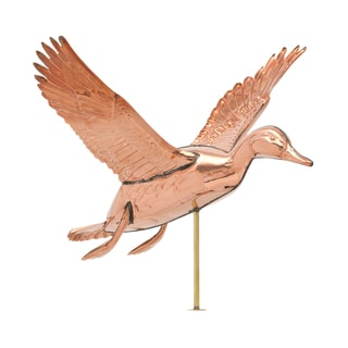 White Hall Polished Copper Duck Weathervane