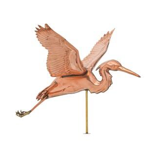 White Hall Polished Copper Heron Weathervane