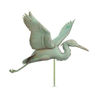 White Hall Verdigris Copper Heron Weathervane