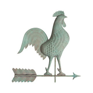 White Hall Verdigris Copper Rooster Weathervane