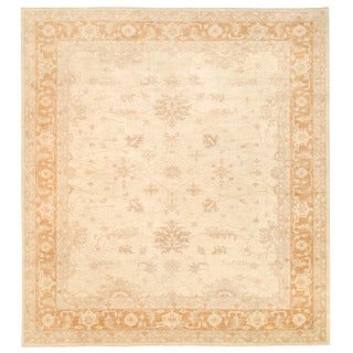 Herat Oriental Afghan Hand-knotted Vegetable Dye Oushak Wool Rug (12'1 x 13'3)