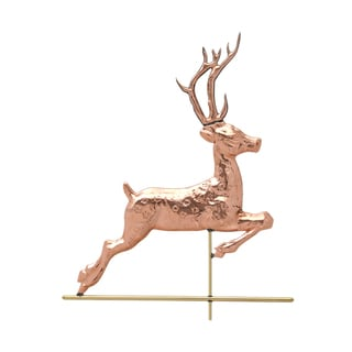 White Hall Polished Copper Deer Weathervane
