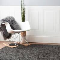 LR Home Serenity Shag Dark Grey Shag Area Rug - 8' x 10'