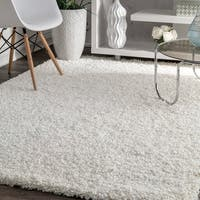 LR Home Hand Tufted Serenity Cloud Shag White Polyester Rug - 8' x 10'