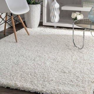 L and R Home Serenity White Indoor Area Rug (8' x 10')