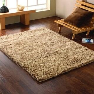 LR Home Serenity Shag Oatmeal Indoor Area Rug ( 8' x 10' ) - 8' x 10'