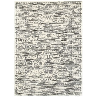 L and R Home White Polypropylene Indoor Shag Area Rug (8' x 10')