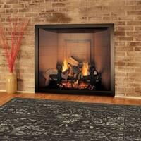 LR Home Soft Shag Jacobean Brown / Dark Beige Area Rug ( 8' x 10' ) - 8' x 10'