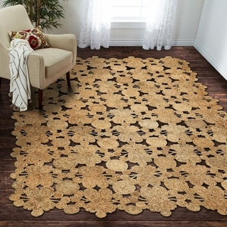 L and R Home Natural Jute Indoor Area Rug (5' x 7')