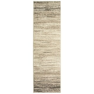 """L and R Home Matrix Beige and White Indoor Runner Rug ( 2'1 x 7'5) - 2' x 7'5"""""""