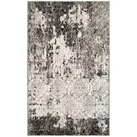 LR Home Matrix White/Brown Indoor Runner Rug - 2'2 x 7'6