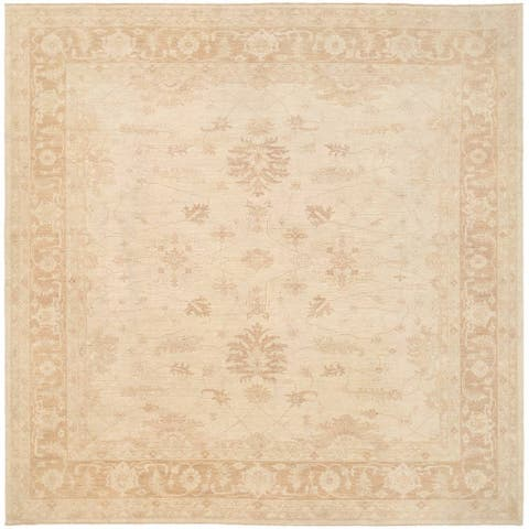 Herat Oriental Afghan Hand-knotted Vegetable Dye Oushak Wool Rug (11'6 x 11'7) - 11'6 x 11'7