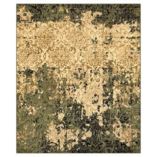 L and R Home Matrix Ivory and Green Olefin Indoor Area Rug (7'9 x 9'5)