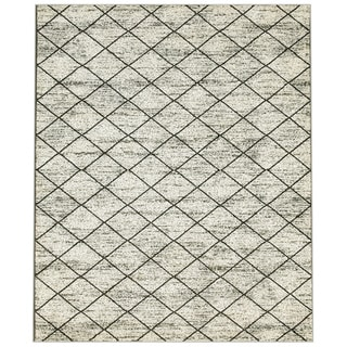 L and R Home Matrix White Indoor Area Rug (7'9 x 9'5)