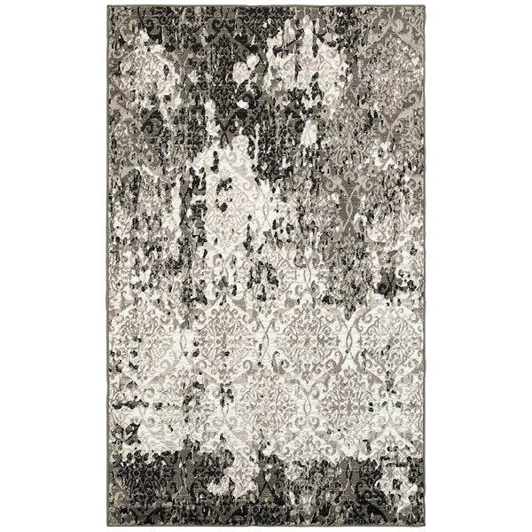 Lr Home Matrix White Brown Indoor Area Rug 7 X27