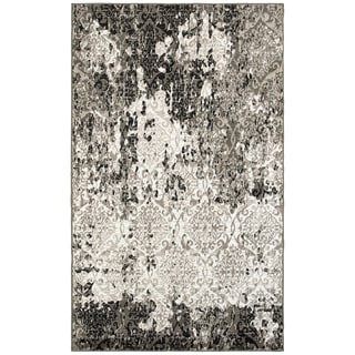 L and R Home Matrix White/Brown Indoor Area Rug (7'9 x 9'5)