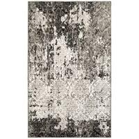 LR Home Matrix White / Brown Indoor Area Rug ( 7'9 x 9'5 ) - 7'9 x 9'6