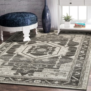 L and R Home Matrix Stone and Magnet Grey Polypropylene Indoor Area Rug( 7'9 x 9'5)