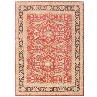 Herat Oriental Afghan Hand-knotted Vegetable Dye Oushak Wool Rug (10'1 x 13'8)