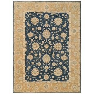 Herat Oriental Afghan Hand-knotted Vegetable Dye Oushak Wool Rug (9'10 x 13'7)