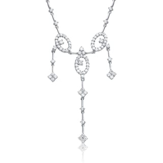 Collette Z Sterling Silver Cubic Zirconia Loop Necklace