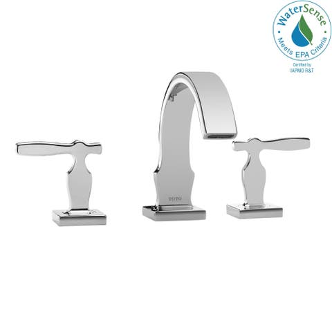 Toto Aimes Two Handle Widespread 1.5 GPM Bathroom Sink Faucet, Polished Chrome (TL626DD#CP)