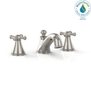 Toto Vivian Two Cross Handle Widespread 1.5 GPM Bathroom Sink Faucet TL220DD#PN Polished Nickel