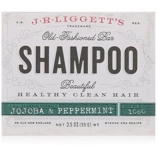 J.R.Liggett's Old-Fashioned 3.5-ounce Jojoba and Peppermint Bar Shampoo