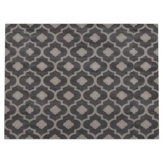 Moroccan Trellis Contemporary Grey Indoor Area Rug (9' x 12')