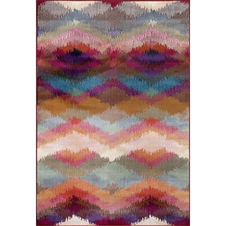 Multicolored Polypropylene Distressed Modern Geometric Soft Area Rug (9' x 12')|https://ak1.ostkcdn.com/images/products/14276041/P20861706.jpg?impolicy=medium