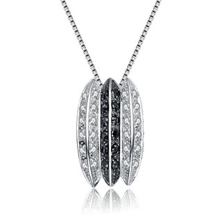 Collette Z Sterling Silver Cubic Zirconia Oreo Necklace
