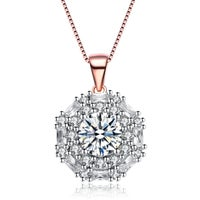 Solitaire Cubic Zirconia Necklaces