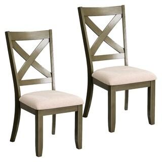 Omaha Grey Fabric, Wood Dining Chair