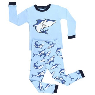 Elowel Boys Shark Cotto 2-piece Pajama Set