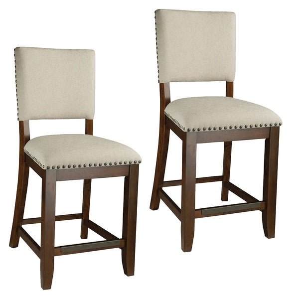 Outdoor Patio Furniture Omaha Ne: Shop Omaha Upholstered Stool (Set Of 2)