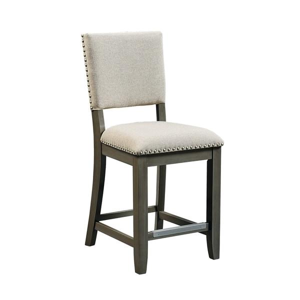 Outdoor Patio Furniture Omaha Ne: Shop Omaha Grey Upholstered Stool