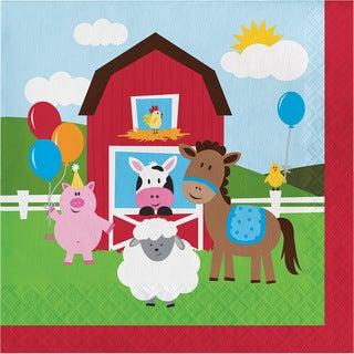 Farmhouse Fun Birthday Lunch Napkins (192 count)
