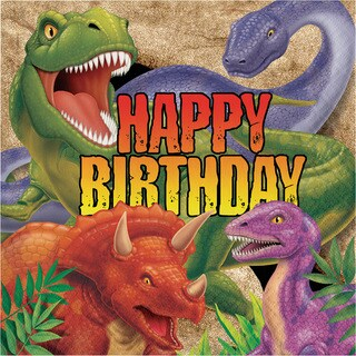 "Dino Blast ""Happy Birthday"" Lunch Napkins (192 Count)"