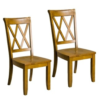 Vintage Wood Dining Chairs (Set of 2)