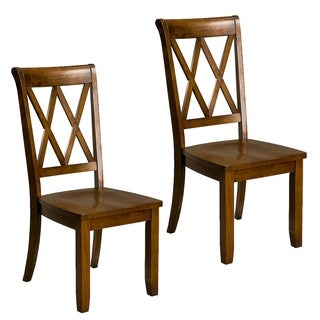 Brown Wood Vintage Dining Chair