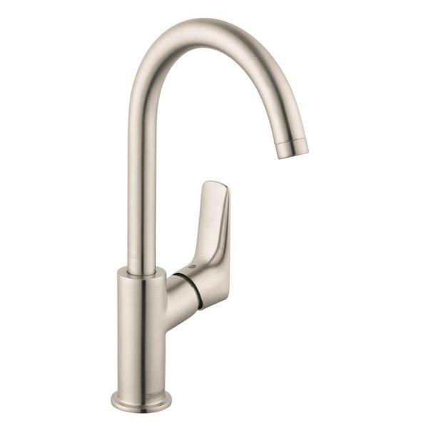 Shop Hansgrohe Logis Single Hole Bathroom Faucet 71130821 Brushed ...