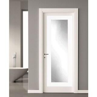 BrandtWorks Matte White 21.5 x 71 - Inch Over the Door Full Length Mirror