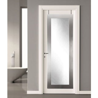 Modern Silver 21.5 x 71 - Inch Over the Door Full Length Mirror