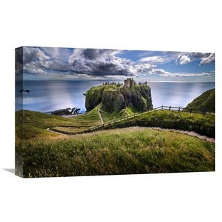 Global Gallery Ghizzi Panizza Alberto 'Dunnottar Castle' Stretched Canvas Artwork